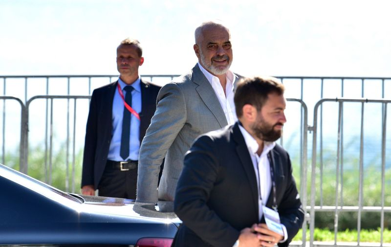 Albanian Prime Minister Edi Rama during the Bled Strategic Forum 2021. Bled Strategic Forum 2021, Bled, Slovenia - 01 Sep 2021,Image: 629824622, License: Rights-managed, Restrictions: , Model Release: no, Credit line: Profimedia
