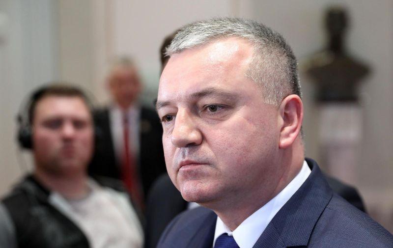 Zagreb: Ministar Horvat o Uljaniku 17.01.2019., Zagreb- Ministar Darko Horvat dao je u Saboru izjavu o Uljaniku.  Photo: Patrik Macek/PIXSELL