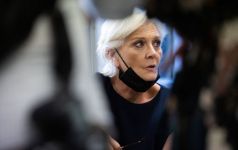 Far-right party Rassemblement National (RN) member Marie-Caroline Le Pen watches the results of the first round of the regional elections at the party's headquarters on June 20, 2021 in Nanterre, France.,Image: 616902646, License: Rights-managed, Restrictions: , Model Release: no, Credit line: Profimedia