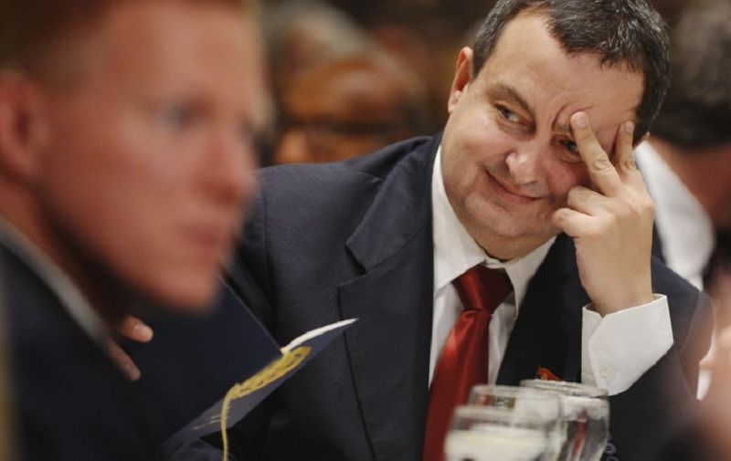 Serbian Prime Minister Ivica Dacic attends the National Prayer Breakfast on February 7, 2013 at a hotel in Washington, DC. AFP PHOTO/Mandel NGAN