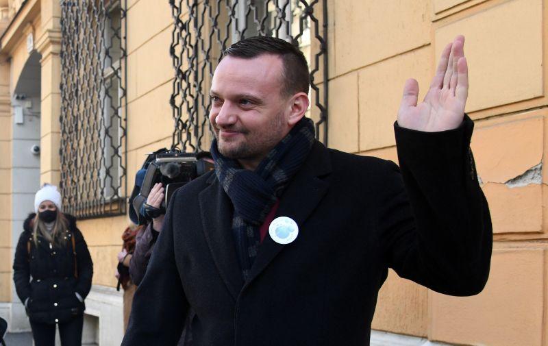 27.01.2021., Zagreb - Nezavisni vijecnik iz Oroslavja, Viktor Simunic, dolazi u USKOK dati izjavu. Photo: Josip Regovic/PIXSELL