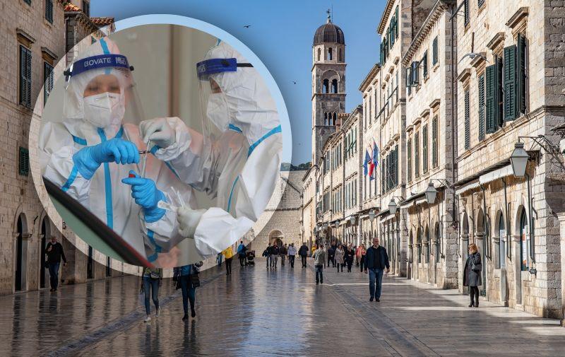 25.02.2021., Stara gradska jezgra, Dubrovnik - Dnevna gradska svakodnevnica nije poremecena ni jucerasnjim potresom koji osim uznemirenosti nije uzrokovao nikakve posljedice. Photo: Grgo Jelavic/PIXSELL