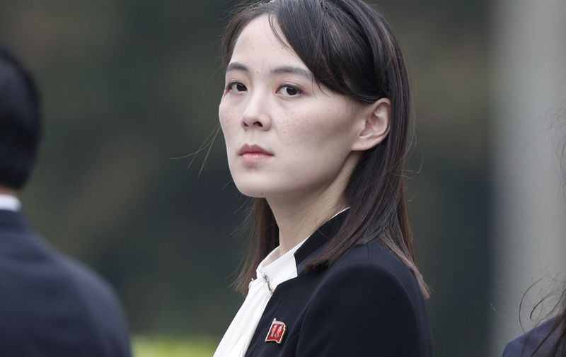 Kim Yo Jong, sister of North Korea's leader Kim Jong Un, attends wreath laying ceremony at Ho Chi Minh Mausoleum in Hanoi, March 2, 2019. (Photo by JORGE SILVA / POOL / AFP)