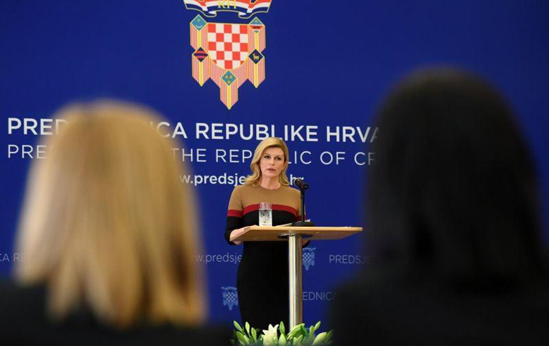 16.02.2019., Zagreb - Predsjednica RH Kolinda Grabar Kitarovic odrzala je konferenciju za medije povodom 4 godine njenog mandata.  Photo: Marko Lukunic/PIXSELL