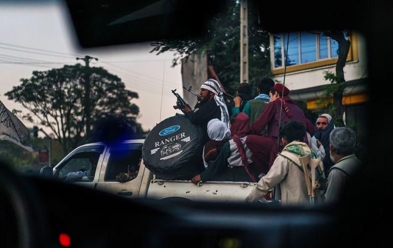 Taliban patrolling Kabul, Afghanistan, Monday, Aug. 16, 2021. (MARCUS YAM / LOS ANGELES TIMES) THE FALL OF KABUL, AS TALIBAN ADVANCES, Kabul, Kabul Province, Afghanistan - 16 Aug 2021,Image: 627535195, License: Rights-managed, Restrictions: , Model Release: no, Credit line: Profimedia