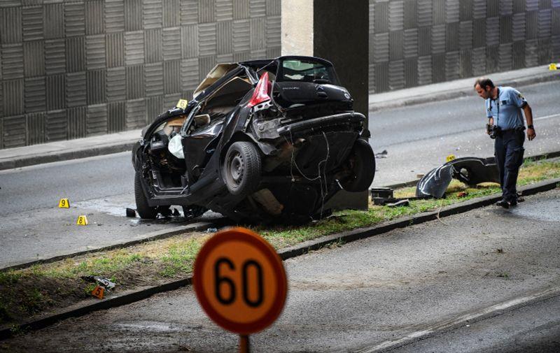23.07.2021.., Zagreb - Prometna nesreca sa smrtnom posljedicom na aleji Bolonje  Photo: Josip Regovic/PIXSELL