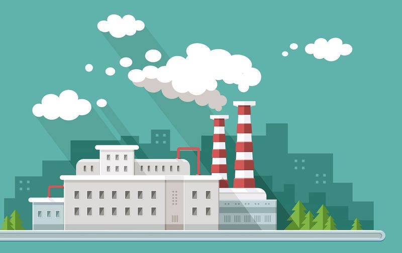 Ecology set. Environment, green energy. Eco life, emissions, nature pollution concept. Flat style vector illustration