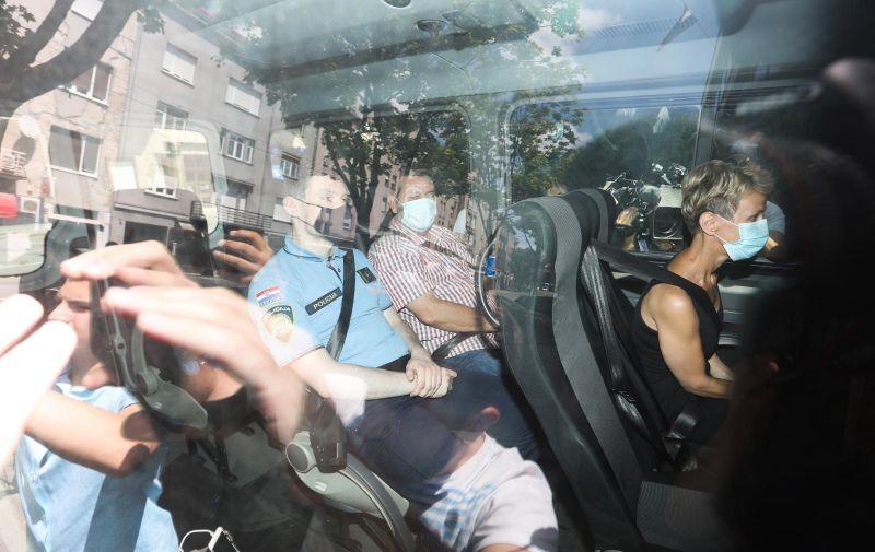 01.07.2021., Zagreb - Privodjenje osumnjicenih u prostorije USKOK-a u Vlaskoj. Photo: Marin Tironi/PIXSELL