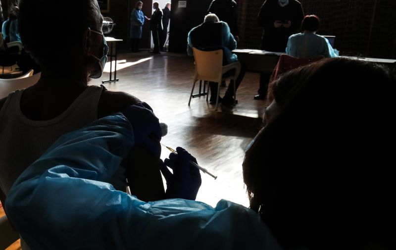 23.02.2021., Zagreb - Hrvatski zavod za javno zdravstvo organizirao je punkt na Mihaljevcu za cijepljenje gradjana protiv covida-19. Photo: Sanjin Strukic/PIXSELL