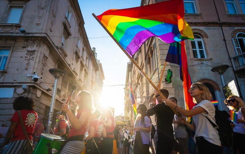 17.07.2021., Split - Jubilarni 10. Split Pride. Photo: Milan Sabic/PIXSELL