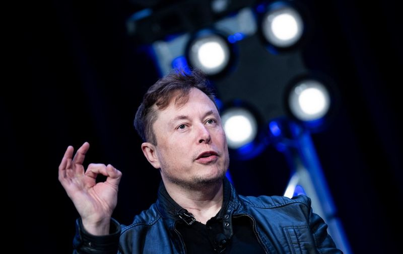 (FILES) In this file photo Elon Musk, founder of SpaceX, speaks during the Satellite 2020 at the Washington Convention Center March 9, 2020, in Washington, DC. - US electric car maker Tesla on July 1, 2020 became the world's most valuable auto company by market value, surpassing Japan's Toyota after earlier overtaking conventional Detroit giants. Tesla's value reached $207.2 billion, according to Bloomberg, compared with Toyota's value of $201.9 billion. (Photo by Brendan Smialowski / AFP)