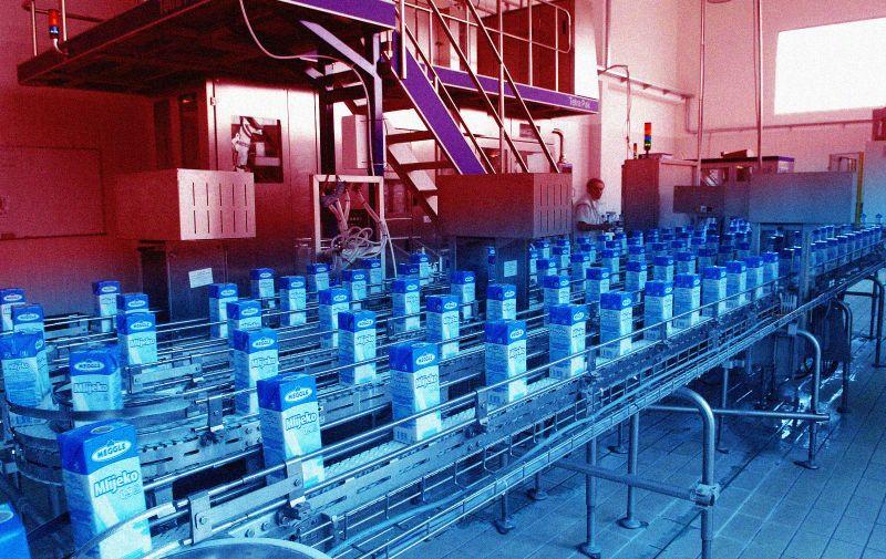 06.04.2011,Osijek,Hrvatska - Tvornica mlijeka Meggle u Osijeku. Photo: Marko Mrkonjic/PIXSELL