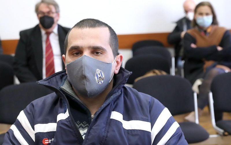 04.02.2021., Zagreb -Na Opcinskom kazenom sudu objavljena je presuda Mariju Horvatu za pokusaj ubojstva djelatnika Cistoce. Photo: Patrik Macek/PIXSELL