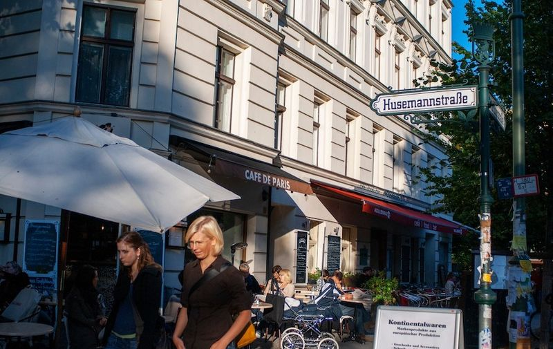 Cafe de Paris at Husemannstrasse Prenzlauer Berg in Berlin Germany,Image: 488651840, License: Rights-managed, Restrictions: *** World Rights ***, Model Release: no, Credit line: Profimedia