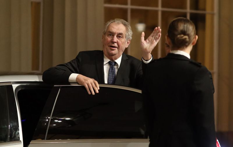 LONDON, ENGLAND - DECEMBER 03: President of the Czech Republic Miloš Zeman arrives at a reception for NATO leaders hosted by Queen Elizabeth II at Buckingham Palace on December 3, 2019 in London, England. Her Majesty Queen Elizabeth II hosted the reception at Buckingham Palace for NATO Leaders to mark 70 years of the NATO Alliance. (Photo by Dan Kitwood-WPA Pool/Getty Images)