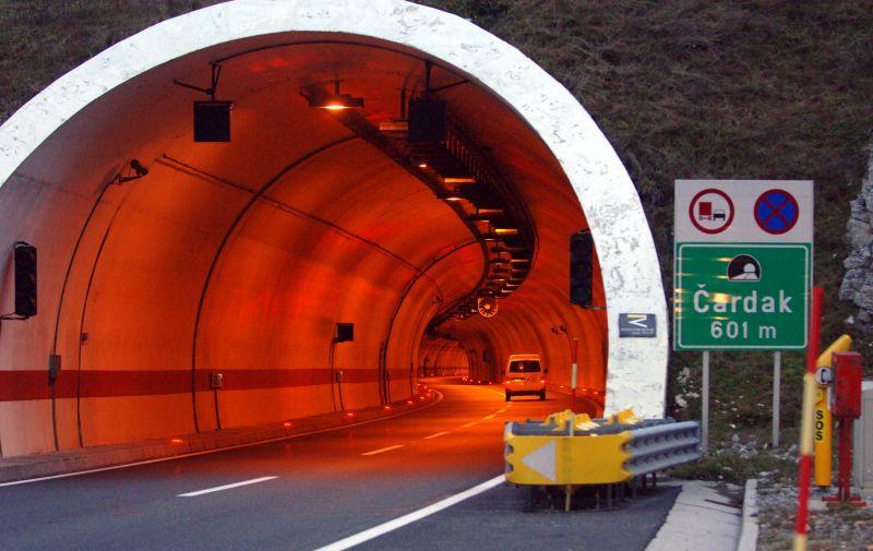 30.11.2009., Gorski kotar - Tunel Cardak na autocesti Rijeka-Zagreb.  Photo: Goran Kovacic/PIXSELL