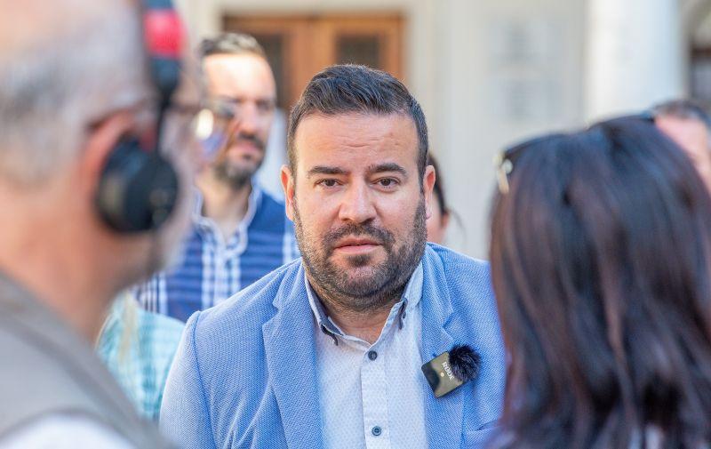 27.05.2021..,Pula -  Filip Zoricic kandidat za gradonacelnika Pule odrzao je press konferenciju na Forumu. Photo: Srecko Niketic/PIXSELL