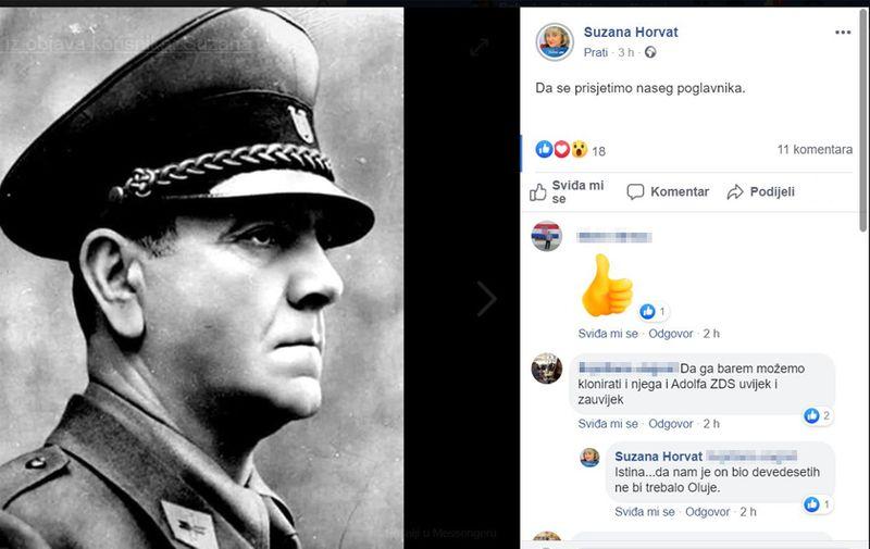 Objava koju je gospođa Horvat obrisala s Facebooka