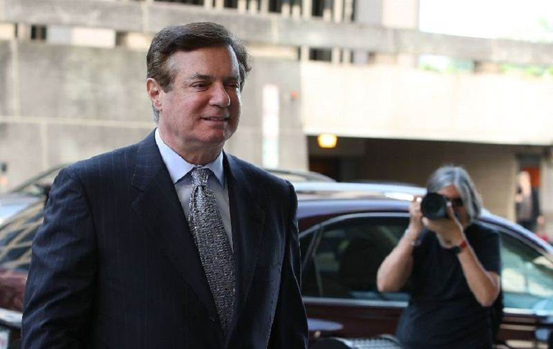 WASHINGTON, DC - MAY 23: Former Trump campaign manager Paul Manafort arrives for a hearing at the E. Barrett Prettyman U.S. Courthouse on May 23, 2018 in Washington, DC. Manafort was indicted last year by a federal grand jury and has pleaded not guilty to all charges against him including, conspiracy against the United States, conspiracy to launder money, and being an unregistered agent of a foreign principal.   Mark Wilson/Getty Images/AFP