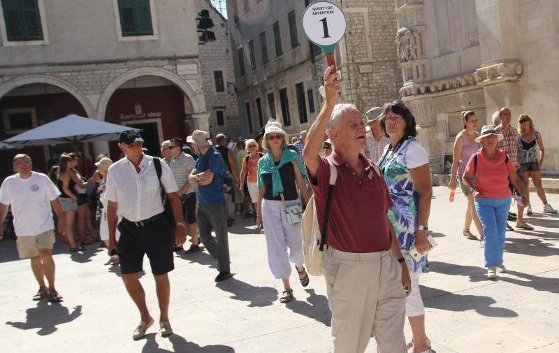 08.09.2013., Sibenik - Grupe turista iz svih krajeva svijeta preplavili su Sibenik i katedralu sv Jakova¸. Photo: Dusko Jaramaz/PIXSELL