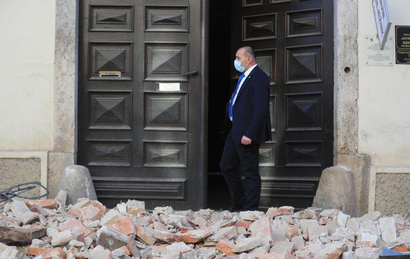 29.12.2020., Petrinja - Posljedice jakog potresa jacine 6.3 po Richteru pogodio je Petrinju, Sisak i okolicu te nanio veliku stetu. Tomo Medved. Photo. Slavko Midzor/PIXSELL