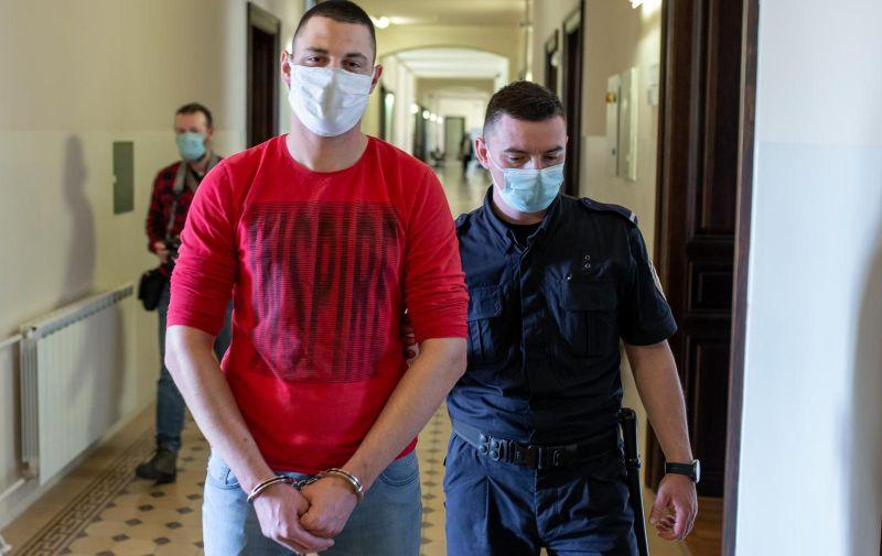 14.05.2021.,Osijek - Presuda Egonu Elezovicu za ubojstvo svoje pomajke.  Photo: Davor Javorovic/PIXSELL