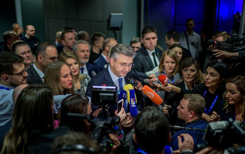 Andrej Plenković daje izjavu