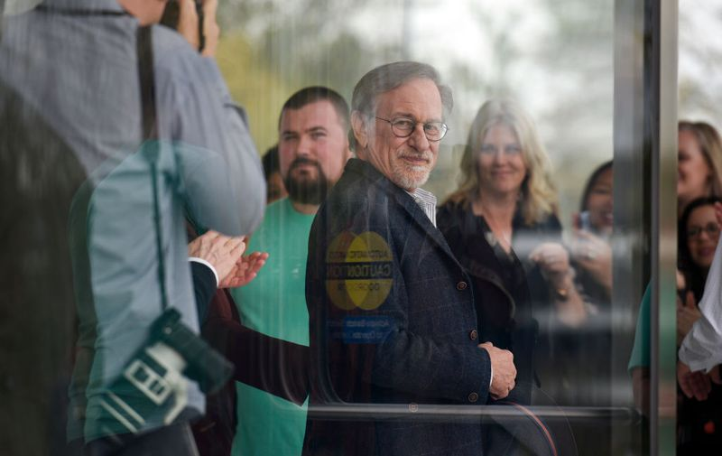 CUPERTINO, CA - MARCH 25: Filmmaker Steven Spielberg attends an Apple product launch event at the Steve Jobs Theater at Apple Park on March 25, 2019 in Cupertino, California. Apple Inc. announced the launch of its new video streaming service, and also unveiled a premium subscription tier to its News app. (Photo by Michael Short/Getty Images)