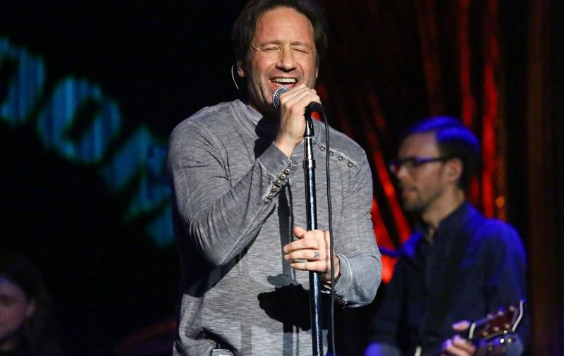 NEW YORK, NY - MAY 12: Actor and musician David Duchovny performs at The Cutting Room on May 12, 2015 in New York City.   Astrid Stawiarz/Getty Images/AFP