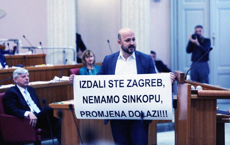 18.05.2020., Zagreb - Sabor je zadnji dan rada 9. saziva poceo iznosenjem stajalista zastupnika, a glasovanje o raspravljenim tockama dnevnog reda i raspustanju Sabor. Gordan Maras.  Photo: Patrik Macek/PIXSELL