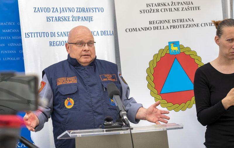 13.05.2020., Pula -  Konferencija za medije Stozera civilne zastite Istarske zupanije na temu koronavirusa (COVID-19). Photo: Srecko Niketic/PIXSELL