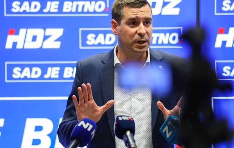 21.05.2021, Zagreb - Predsjednik GO HDZ-a, Mislav Herman odrzao je konferenciju za medije. Photo: Jurica Galoic/PIXSELL
