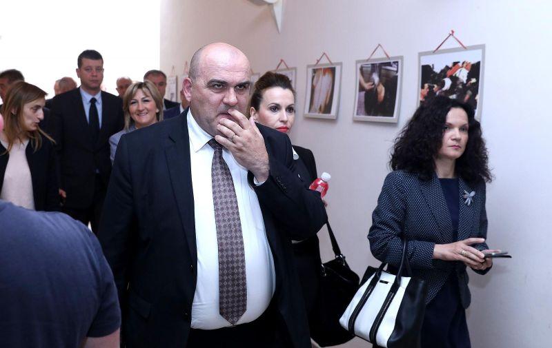 02.05.2017., Zagreb -Zastupnici HDZ-a odlaze na konzultacije za vrijeme saborske stanke. photo: Patrik Macek/PIXSELL