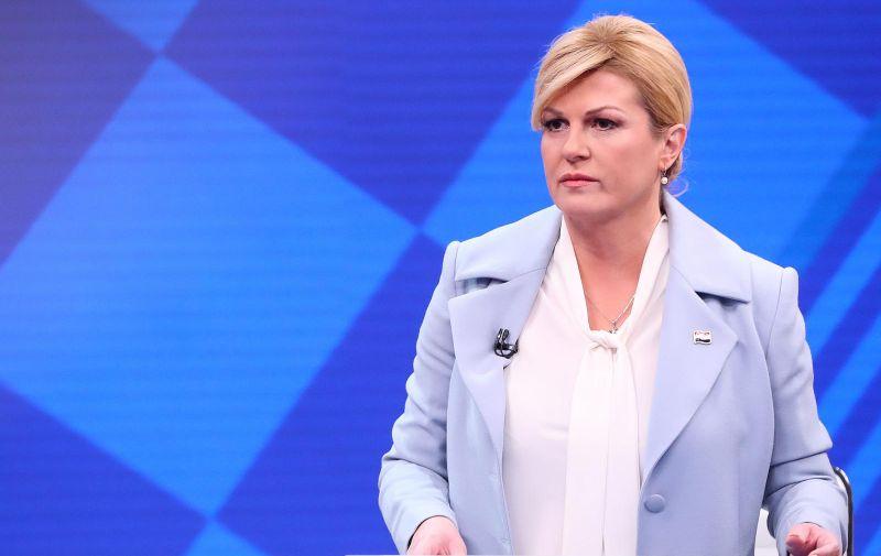 30.12.2019., Zagreb - Suceljavanje predsjednickih kandidata na RTL televiziji. Zoran Milanovic i Kolinda Grabar-Kitarovic.  Photo: Goran Stanzl/PIXSELL