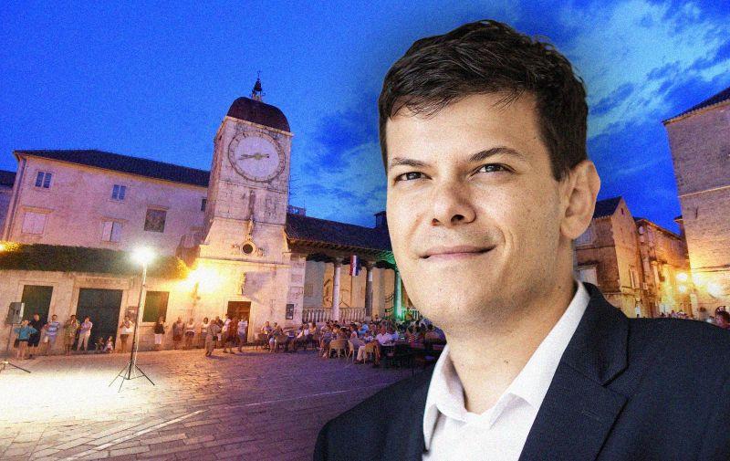 07.08.2016., Trogir - Grad se smjestio u serdistu Dalmacije na jadranskoj obali te je zbog pozicije i prirodne zasticenosti omiljena destinacija za nauticare. Spojen je mostom s otokom Ciovom a 1997. godine je proglasen gradom pod zastitom UNESCO-a, Trogir su osnovali  grcki kolonisti s otoka Visa u 3. stoljecu prije Krista. Photo: Vjeran Zganec Rogulja/PIXSELL