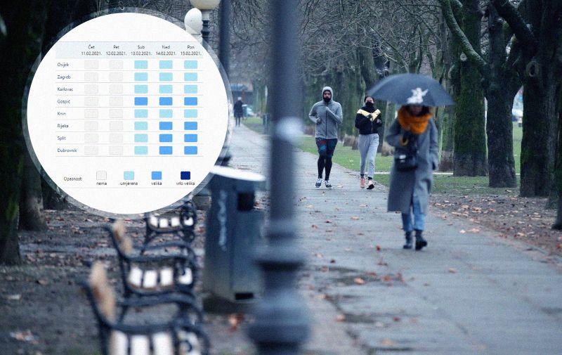 11.02.2021. Zagreb - Iducih nekoliko dana i cijeli sljedeci tjedan temperatura ce biti prave zimske, s tim da ce val hladnoce najjaci biti ovog vikenda, kad se ocekuju i debeli minusi. Hladno jutro na zgrebackim ulicama docekalo je gradjane bas kao sto je i najavljeno  Photo: Sanjin Strukic/PIXSELL