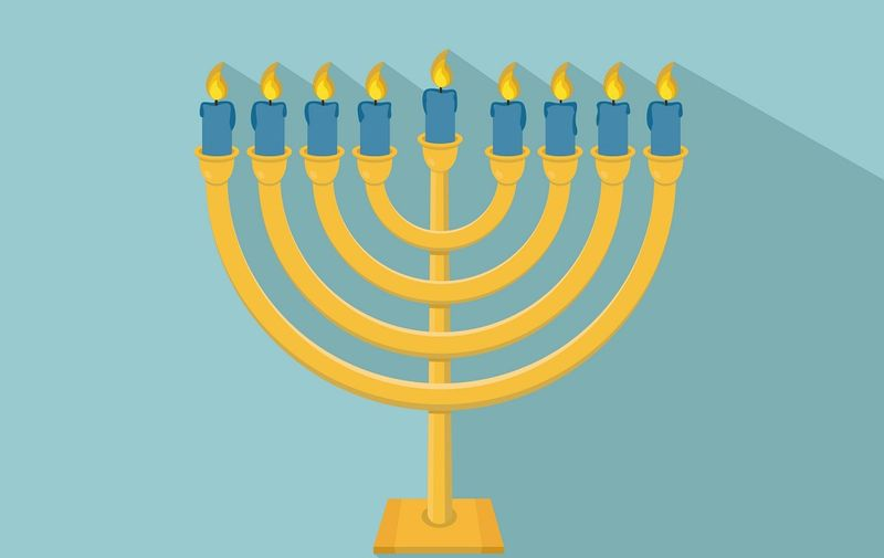 Happy Hanukkah. Hanukkah Menorah icon
