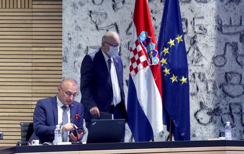 13.05.2021., Zagreb - U Nacionalnoj i sveucilisnoj knjiznici Vlada je odrzala svoju 57. sjednicu.  Photo: Patrik Macek/PIXSELL