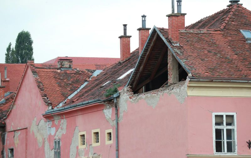 22.09.2020., Zagreb - Ovo su vidljive posljedice potresa koji je Zagreb pogodio na danasnji dan prije tocno pola godine. Potres u Zagrebu 2020. jacine 5,5 stupnjeva po Richteru dogodio se u Zagrebu, u nedjelju, 22. ozujka 2020. u 6:24 sati. Euromediteranski seizmoloski centar javio je da se epicentar nalazio 7 kilometra sjeverno od sredista Zagreba, na dubini od 10 km. Photo: Sanjin Strukic/PIXSELL